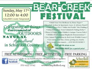 Bear Creek Festival flyer