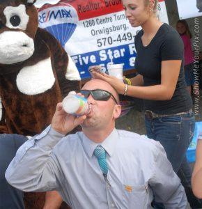 milk chugging contest