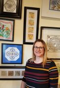 Sheila Grube is featured with some of her Zentangle art work